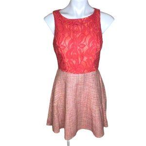 Anthropologie Eva Franco silk A-line dress size 4